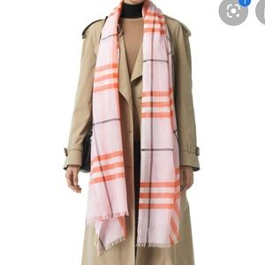 Burberry Women's Giant Check Wool & Silk Scarf